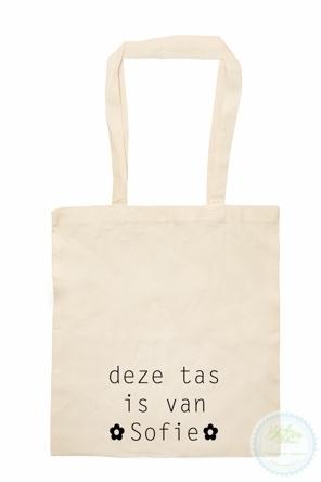 Katoenen tas Deze tas met naam