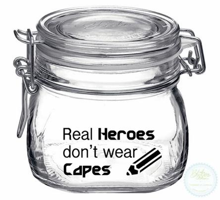 Weckpot met opdruk (0.5 liter) - Real Heroes...