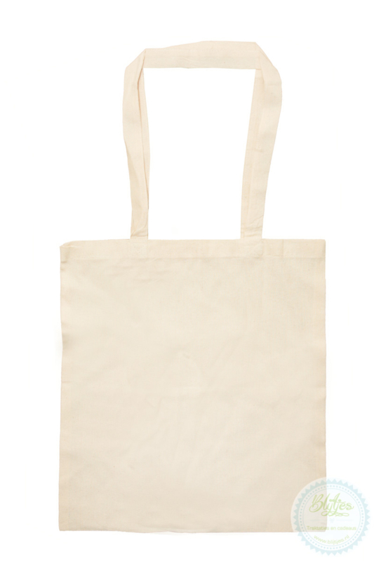 Katoenen tas blanco (5st)