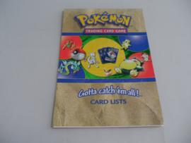 Pokémon Trading Card Game Card Lists