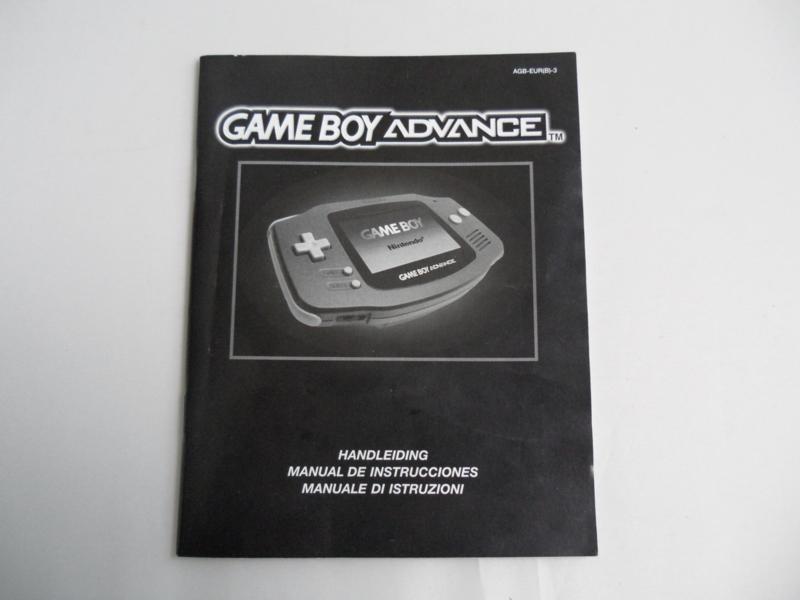 Gameboy Advance Console Handleiding
