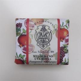 La Florentina zeep  Granaatappel - Rood fruit 106gr