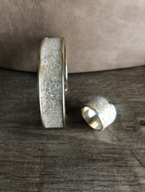 Ring koker goud met swarovski kristallen