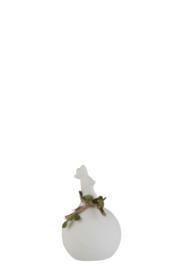 Kip Krans Porselein Ruw Wit Small
