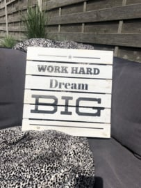 "Plakkaat ""Work hard Dream big"""