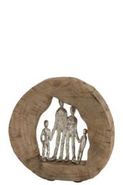 Figuur Familie Mangohout/Aluminium Naturel/Zilver