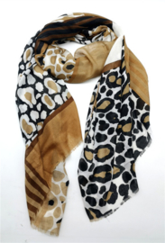 Sjaal luipaard print camel