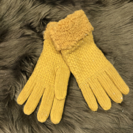 Warme Handschoenen okergeel