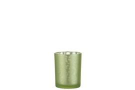 Windlicht Blad Glas Groen