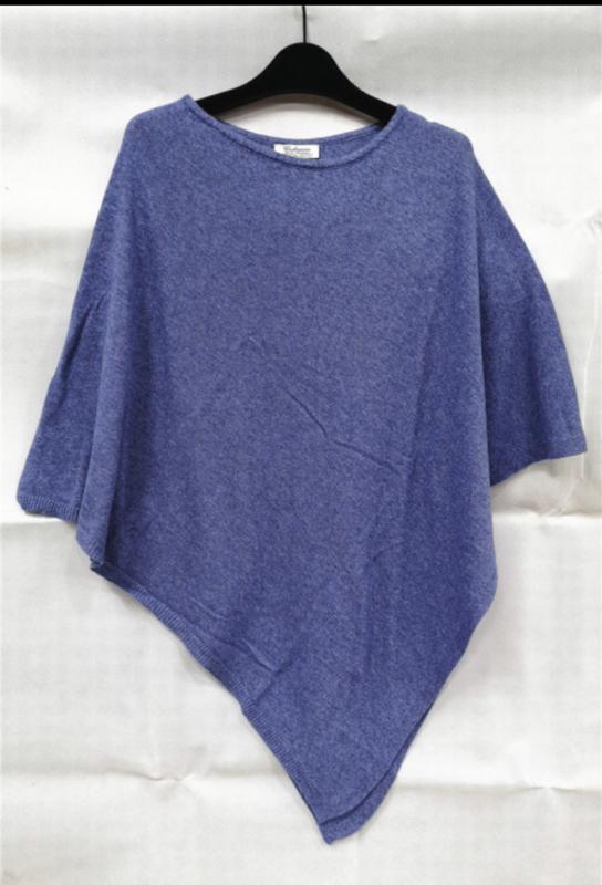 Poncho blauw
