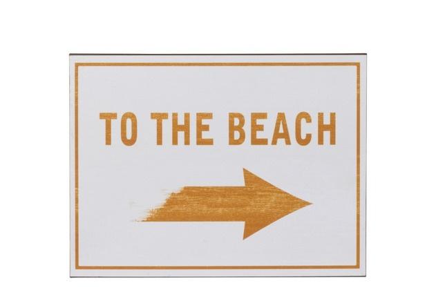 Plakkaat To The Beach Metaal Oker