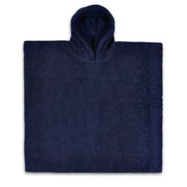 poncho donker blauw
