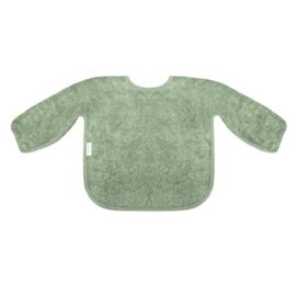 mouwslabbetje stone green