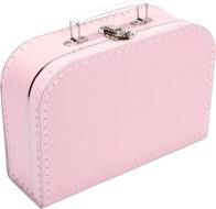 Kinderkoffertje rose effen 30 cm