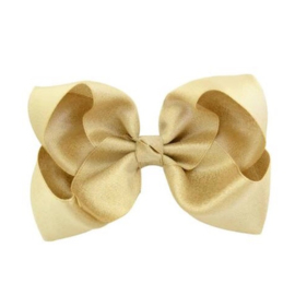 Glitter haarstrik - 10 cm Goud
