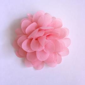 Haarspeldje met bloemetje 7 cm - Koraal