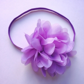 Haarbandje newborn baby - Bloem (10cm) lila