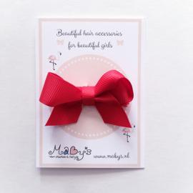 Baby haarspeldje met strikje - Rood