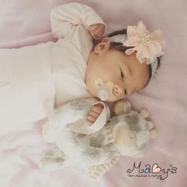 Haarbandje baby meisje - Bloem (7cm) zalm