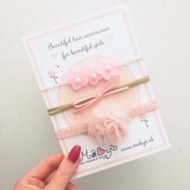 Newborn haarbanden cadeau set - Roze