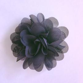 Haarspeldje met bloemetje 5 cm - Navy