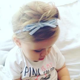 Strik haarbandje baby meisje - babyblauw