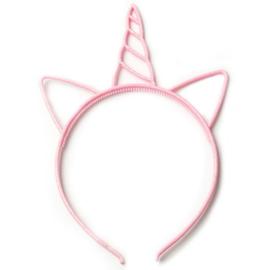 Diadeem eenhoorn - glitters roze
