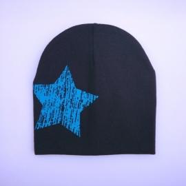 Babymuts - Zwart met ster