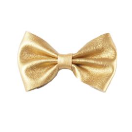 Haarspeldje met strik - Strik 8 cm goud