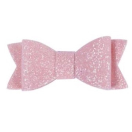 Glitter strik - roze