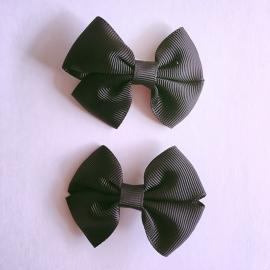 Set van 2 haarclips baby meisje - zwart