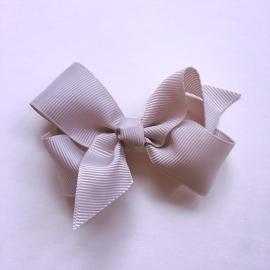 Haarclip baby meisje - Strikje 8 cm grijs
