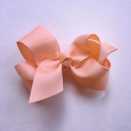 Haarclip baby meisje - Strikje 8 cm zalm