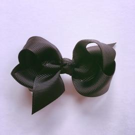 Haarclip baby meisje - Strikje 8 cm zwart