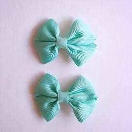 Set van 2 haarclips baby meisje - mintgroen
