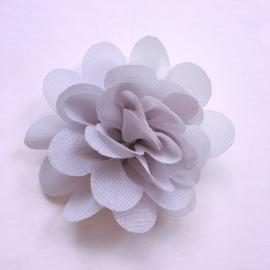 Haarspeldje baby meisje - bloemetje 5 cm grijs