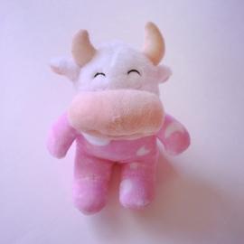 Knuffel geboortekoe - Roze