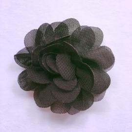 Haarspeldje baby meisje - bloemetje 5 cm zwart