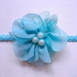 Haarbandje baby meisje parel - Blauw