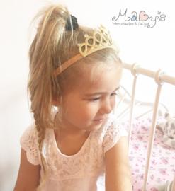Haarband kroontje - Goud