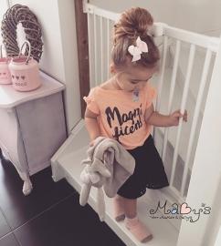 Haarclip baby meisje - Strikje 8 cm lichtroze