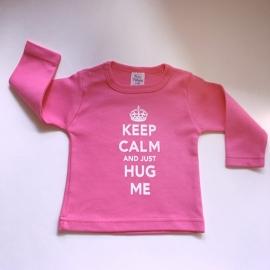 "Baby meisjes shirtje - ""keep calm"" roze"