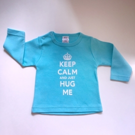 "Baby jongens shirtje - ""keep calm"" blauw"