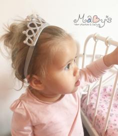 Haarband kroontje - Zilver