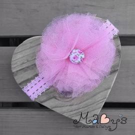Haarbandje Maby's - Bloem (10cm) roze