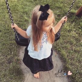 Haarspeld meisje - Strik 12 cm zwart