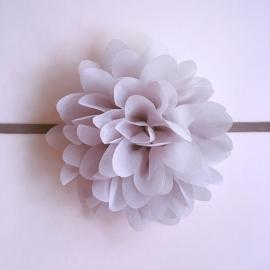 Haarbandje baby/meisje - Bloem (10cm) grijs