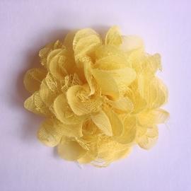 Haarclip baby meisje - bloem (10 cm) geel