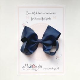Haarstrik meisje - Navy, donkerblauw