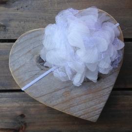 Haarbandje newborn baby - Bloem (10cm) wit